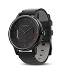 Garmin Vivomove Classic - Black with Leather Band
