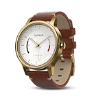 Garmin Vivomove Premium - Gold-tone Steel with Leather Band