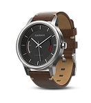 Garmin Vivomove Premium - Stainless Steel with Leather Band